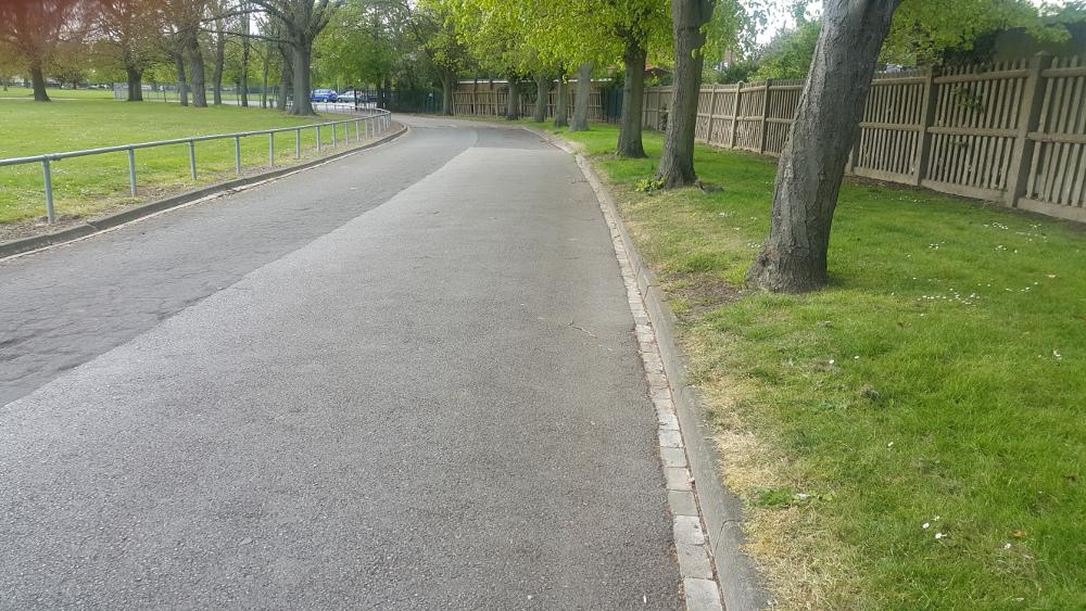 Pathway at Dagenham Central Park