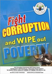 FIGHT CORRUPTION SVAE SIERRA LEONE