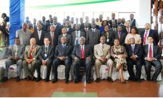 PERSIDENT KOROMA AT AFRICAN FINANCE MEET