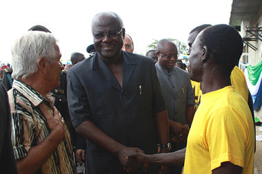 PRESIDENT KOROMA LAUNCH FRUIT JUICE