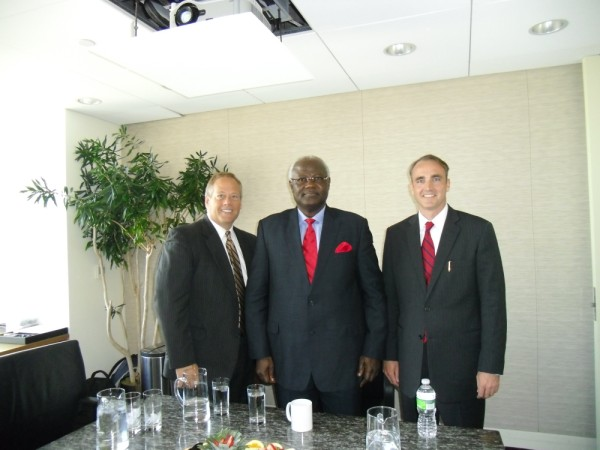 PRESIDENT KOROMA WITH FIRST STEP EXECUTIVES