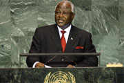 President Koroma addressing UN sept 2010