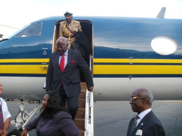 President Koroma arrival for UNGA 1   photo courtesy of L  Kabs-Kanu