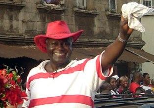 President koroma celebrates in 2007