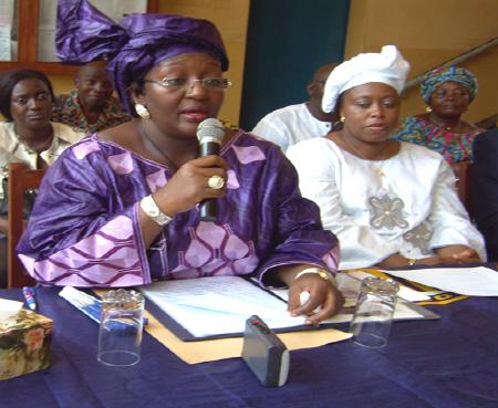 Sia Nyama koroma & wife of VP