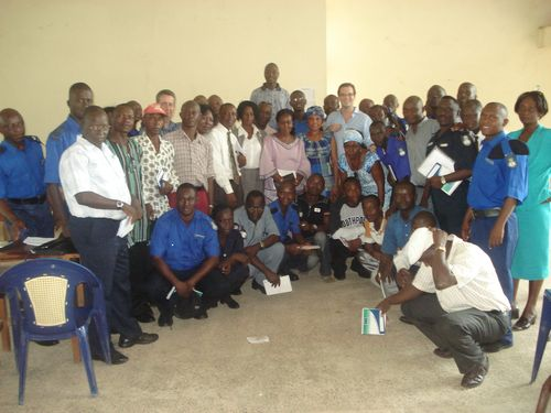 Sierra Leone police participating in the Umubano Project