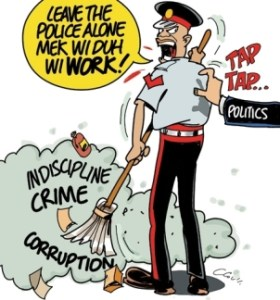 cartoon - leave the police alone - the jamaican observer