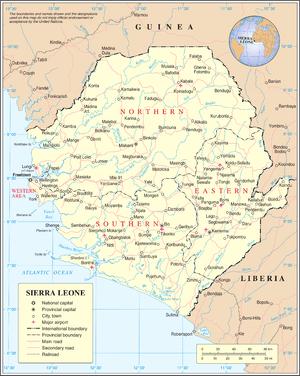 sierra leone map – 2012