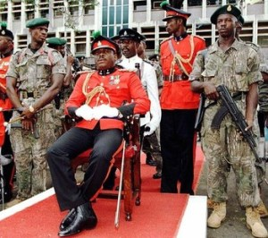 Sierra Leone junta leader Major Johnny P