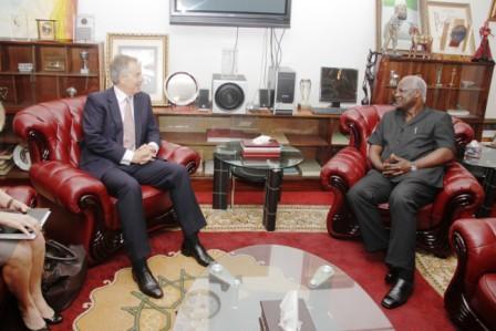 Tony Blair and President Koroma -2012