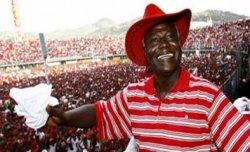 Jubilant President koroma  in 2007