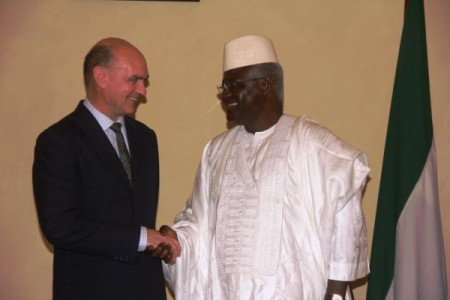 British High Commissioner – Peter West and president koroma