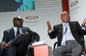 komla with Mo Ibrahim two months ago.