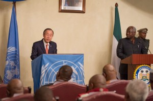 Ban ki moon in Freetown - 050314