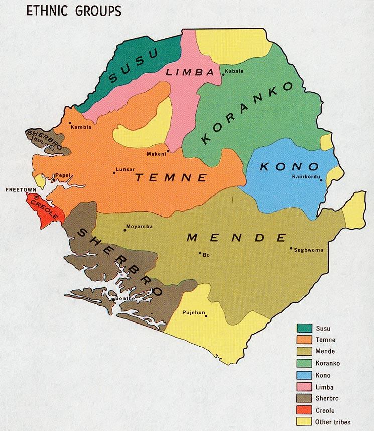 map of sierra leone ethnic groups 1969