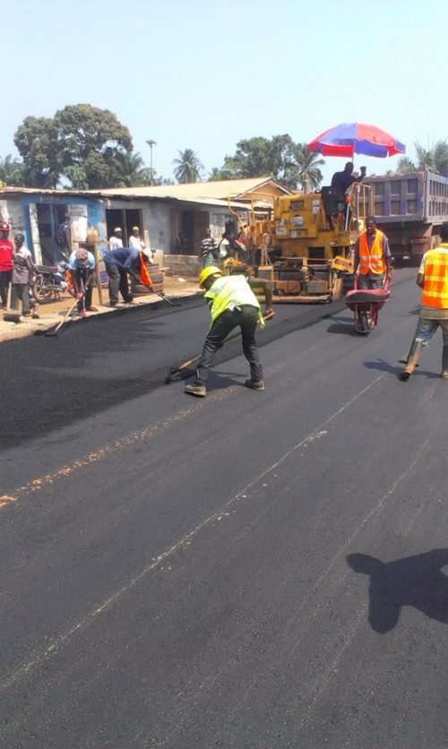 road construction - Moyamba 2014