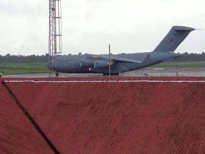 Ebola - RAF palne at Lungi airport