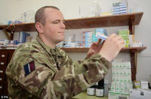 British army medics arrives in frretown - 30 oct 2014