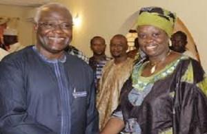 Sylvia Blyden and president Koroma