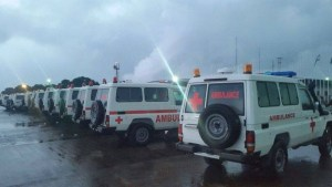 ebola ambulances - 26 for sierra leone