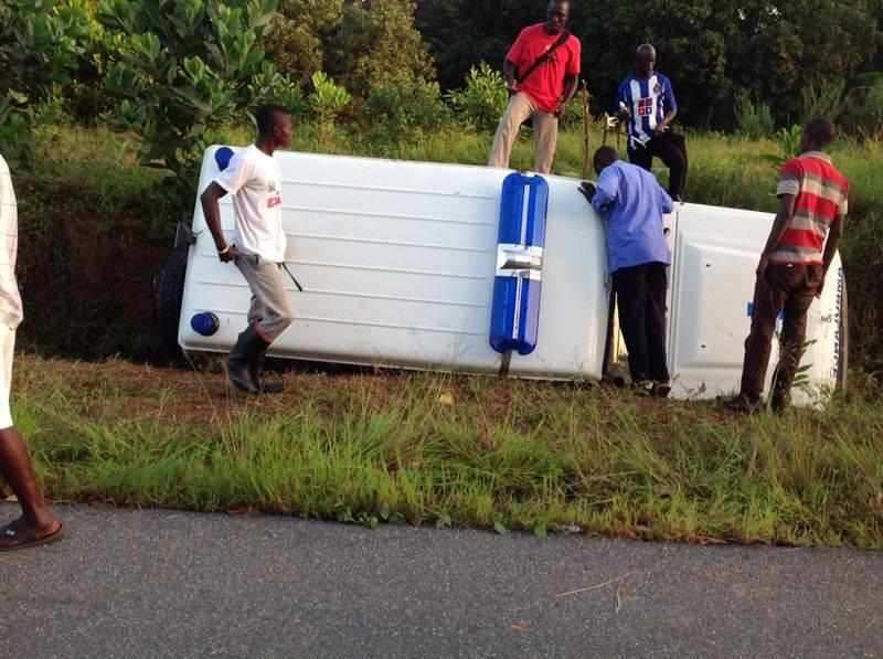 Ebola ambulance accident