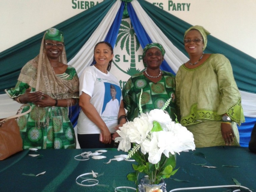 Mrs Yumkella and senior SLPP women leaders