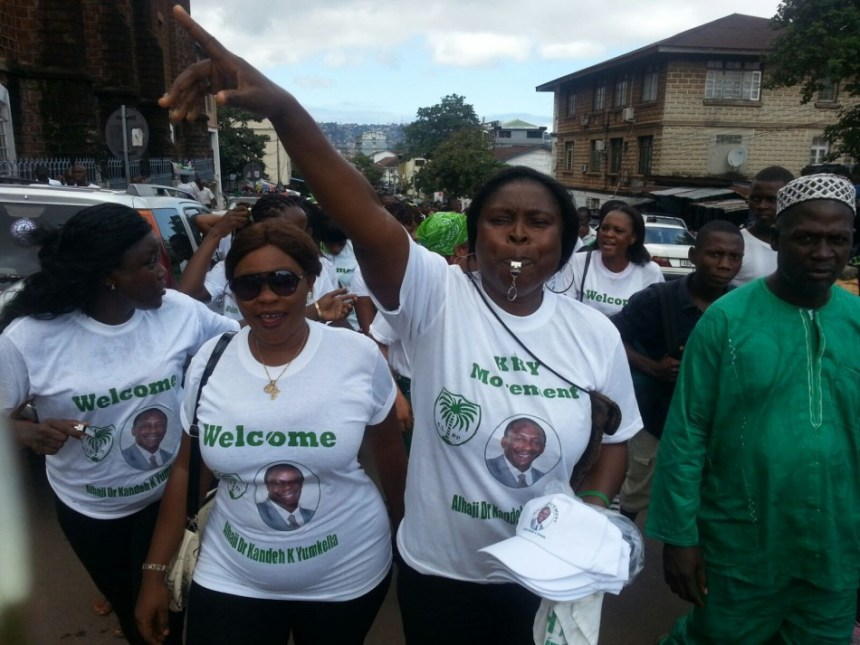 Yumkella supporters in Freeotwn1
