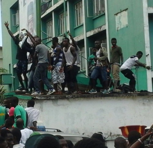 Violence at SLPP office – 24 August 2015