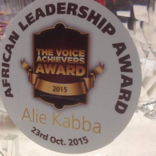 Alie kabba award4