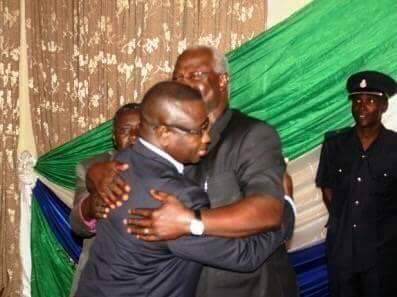 Bio meets president Koroma at state House – 12 October 2015