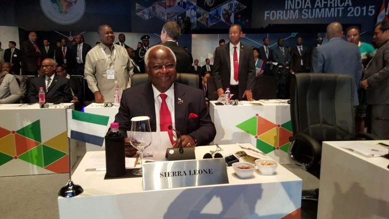 India Africa summit – president Koroma