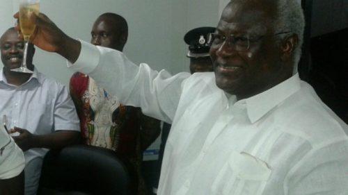 president koroma celebrates