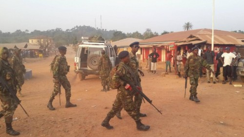 Sierra Leone army deployed in Kono - Dec 2015