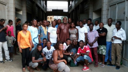 Alie Kabba meeting youths in Lumley Freetown – 18 Jan 2016