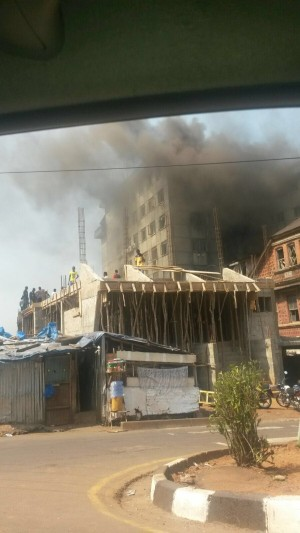 Another fire at electricity office Freetown - Jan 2016