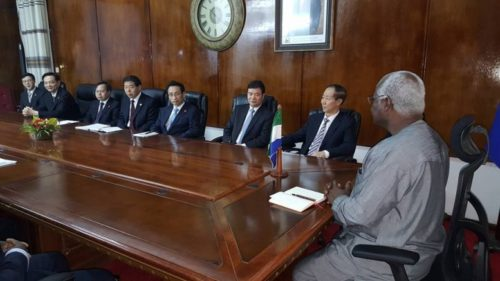 president Koroma and his chinese comrades - 19 Jan 2016