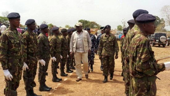 president koroma inspects his militia - march 2015