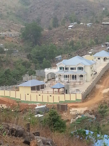 A mansion being built by information minister  Kanu. Where did he get the money