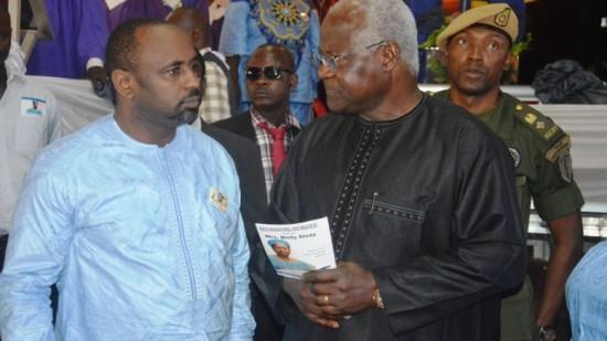 John Sisay and president Koroma - sept 2015