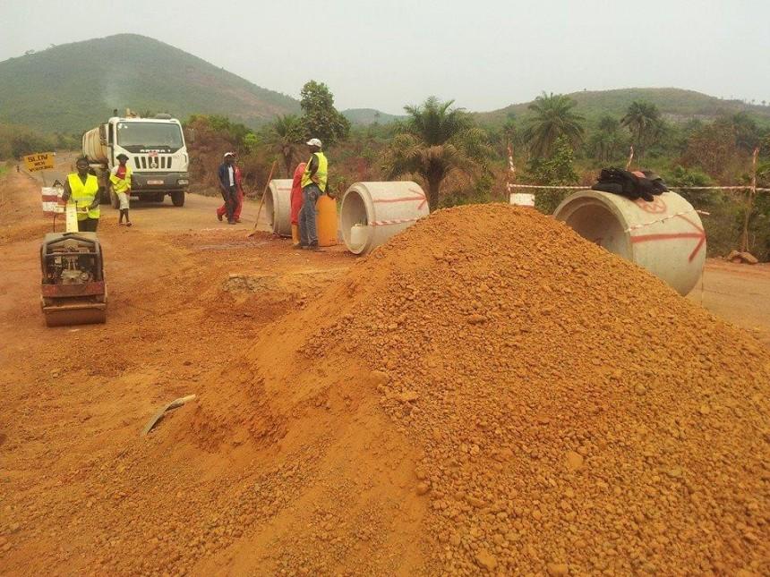 sierra leone - road construction
