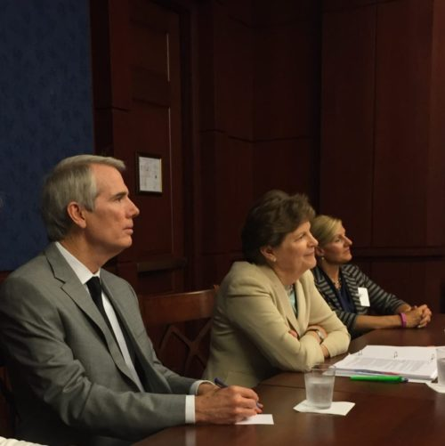 L to R - Sen Portman and Senator Jeanne Shaheen