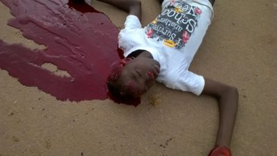 police violence in kabala - several youths shot dead