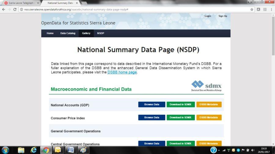 Open Data for Statistics Sierra Leone