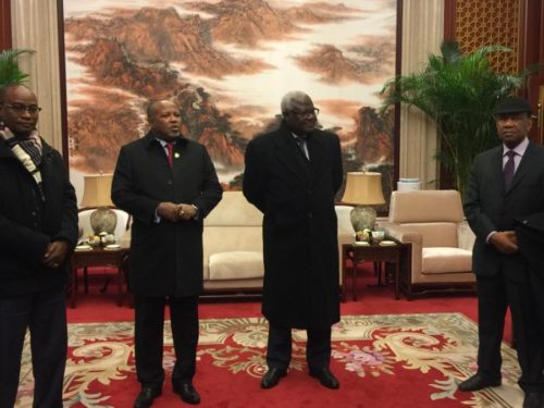 President koroma in China with ministers2