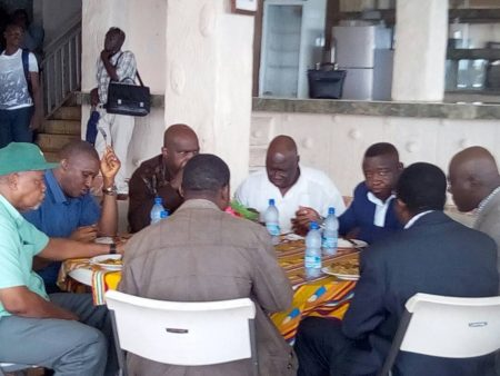 SLPP presidential aspirants and executives pondering the future of SLPP without Yumkella 2