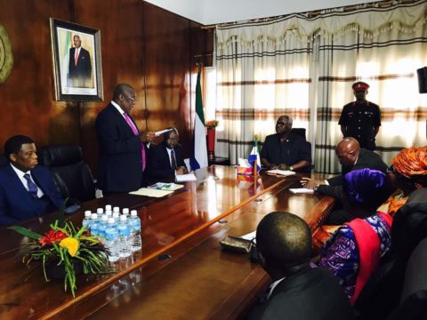 Public service commission present 2016 report to president koroma