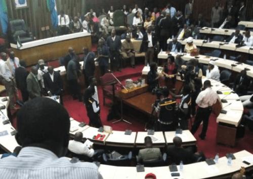 Parliament chaos 22