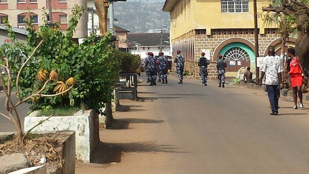 low voter turnout with high police and army presence