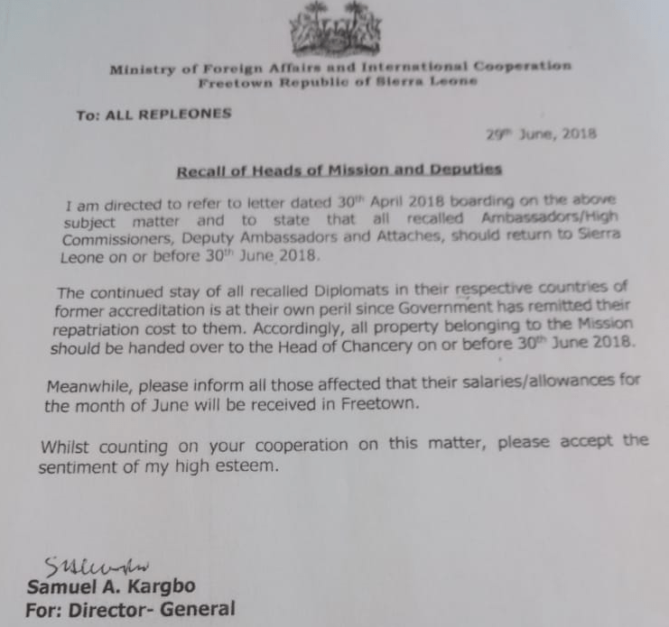 diplomatic staff recalled2