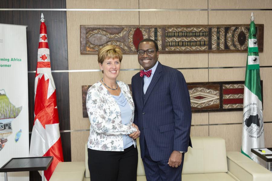Canadian international devt minister and ADB chief Adesina